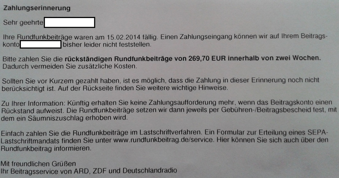 TV license fees in Germany - Rundfunkbeitrag, formerly known as GEZ ...