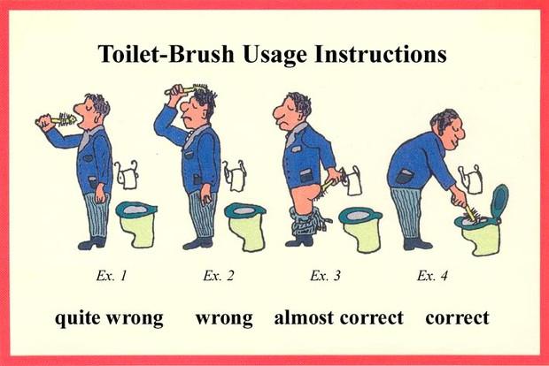 Toilet brush in ass