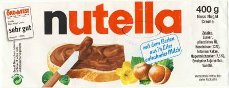 Nutella Code Etikett
