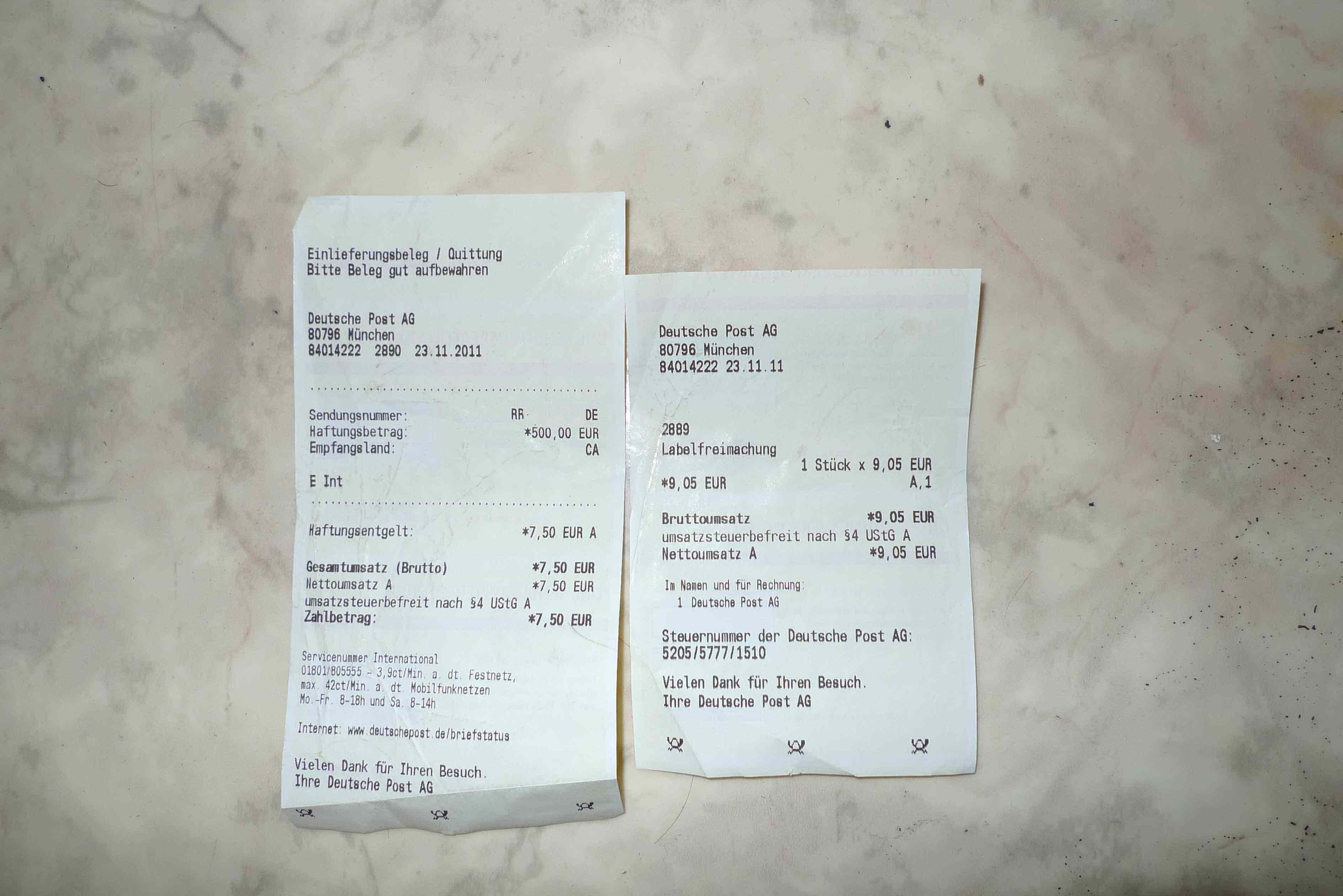 Help with Deutsche Post / DHL receipt details - Life in ...