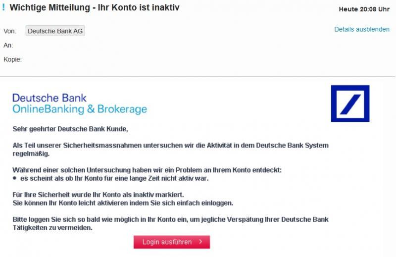 Deutsche Bank Spam
