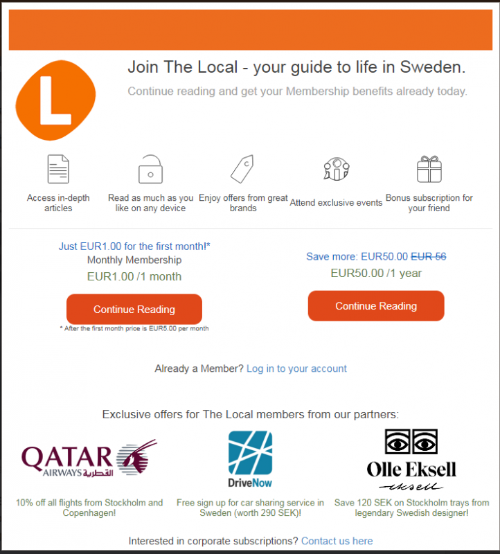 Is thelocal de implementing a paywall? Or just (more) bad IT