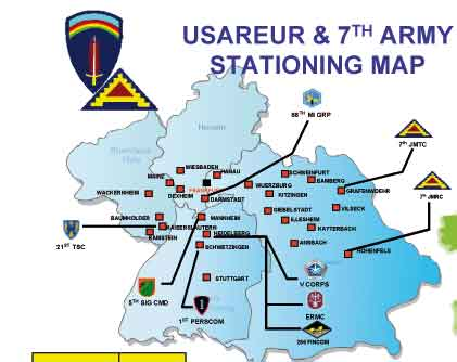 The number of US military bases in Germany US military